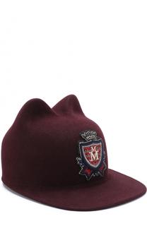 Фетровая кепка Jamie с аппликацией Maison Michel