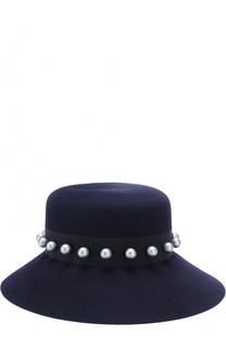 Фетровая шляпа New Kendall с декорированной лентой Maison Michel
