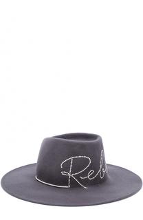 Шерстяная шляпа с отделкой жемчужинами Eugenia Kim