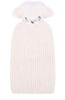 Шерстяная шапка с декорированным помпоном Eugenia Kim