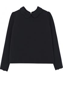 Блуза из вискозы с фигурным воротником Tartine Et Chocolat