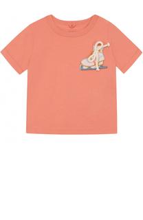 Хлопковая футболка с нашивкой Stella McCartney