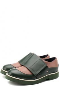 Кожаные ботинки с застежками велькро Marni