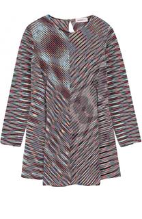 Мини-платье из шерсти с принтом Missoni