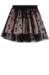 Мини-юбка свободного кроя с принтом в виде звезд Stella McCartney