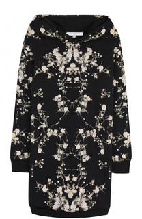 Удлиненный свитшот с принтом и капюшоном Givenchy