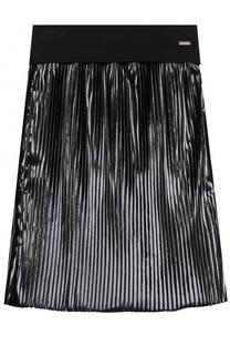 Юбка с плиссировкой и широким поясом Givenchy