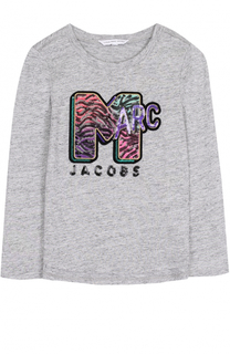 Лонгслив из хлопка и вискозы с пайетками Marc Jacobs