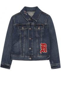 Куртка из денима с нашивкой Polo Ralph Lauren