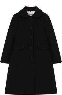 Однобортное приталенное пальто из шерсти и кашемира Dolce & Gabbana