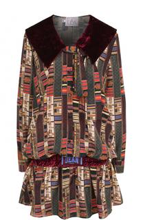 Приталенное мини-платье с принтом Stella Jean