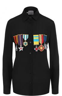 Однотонная блуза с контрастными нашивками Stella Jean