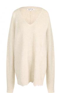 Пуловер из смеси шерсти и кашемира свободного кроя Helmut Lang