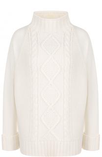 Кашемировый свитер фактурной вязки с высоким воротником Theory
