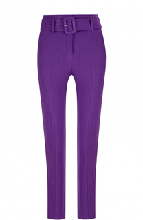 Однотонные брюки-скинни с поясом и карманами Theory