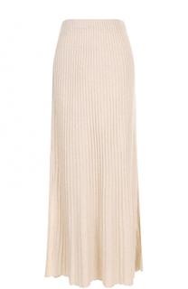 Плиссированная юбка-макси с разрезом Elizabeth and James