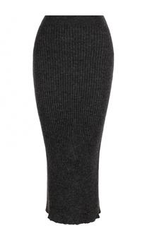 Шерстяная юбка-карандаш с разрезом Acne Studios