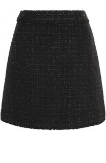 Буклированная мини-юбка А-силуэта MICHAEL Michael Kors