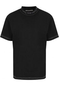Хлопковая футболка с круглым вырезом Acne Studios