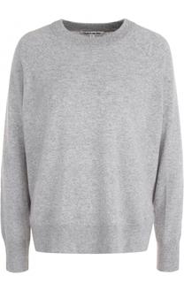 Кашемировый пуловер свободного кроя с круглым вырезом Elizabeth and James