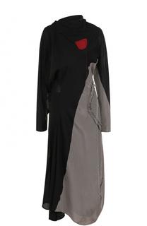 Шерстяное платье-миди с открытой спиной Acne Studios