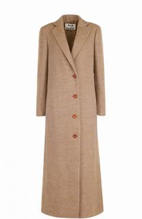 Однобортное шерстяное пальто Acne Studios