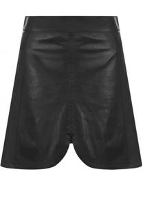 Кожаная мини-юбка с широким поясом Isabel Marant