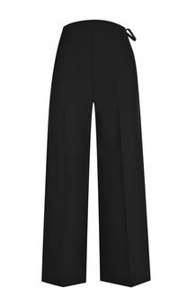 Укороченные расклешенные брюки со стрелками Valentino