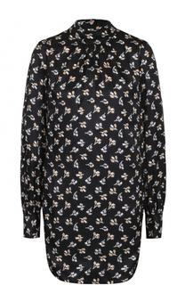 Шелковое мини-платье с воротником-стойкой Marc Jacobs