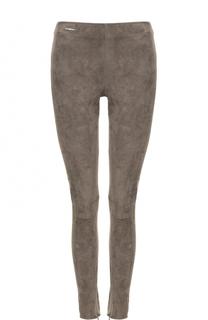 Замшевые брюки-скинни Polo Ralph Lauren