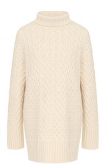 Кашемировый свитер фактурной вязки с высоким воротником The Row