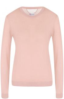 Пуловер из смеси кашемира и шелка с круглым вырезом REDVALENTINO