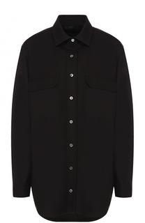 Однотонная шерстяная блуза свободного кроя The Row