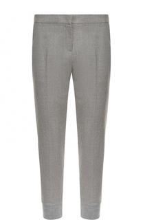 Шерстяные брюки с манжетами и карманами Escada Sport