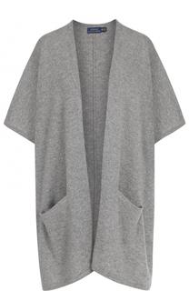 Кашемировый кардиган свободного кроя с накладными карманами Polo Ralph Lauren