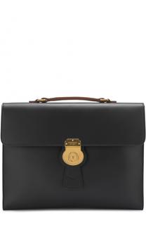 Кожаный портфель с плечевым ремнем Burberry