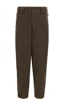 Хлопковые брюки свободного кроя Giorgio Armani