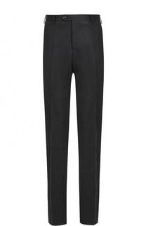 Шерстяные брюки прямого кроя Giorgio Armani