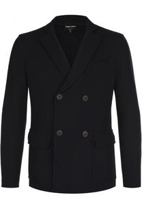 Двубортный шерстяной пиджак Giorgio Armani