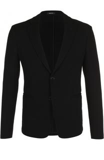 Однобортный шерстяной пиджак Giorgio Armani