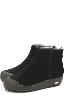 Замшевые ботинки на молнии с внутренней меховой отделкой Bally
