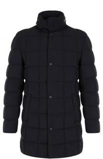Утепленное пальто на молнии с воротником-стойкой Montecore