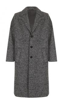 Однобортное шерстяное пальто свободного кроя Neil Barrett