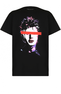 Хлопковая футболка с принтом Neil Barrett