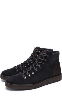 Высокие замшевые ботинки на шнуровке Hogan