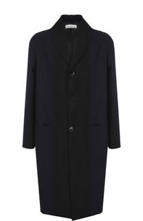 Однобортное пальто свободного кроя из смеси шерсти и хлопка Golden Goose Deluxe Brand
