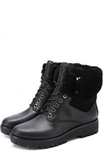 Кожаные ботинки Teddy с отделкой из овчины MICHAEL Michael Kors