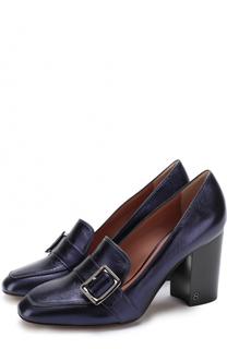 Туфли Janelle из металлизированной кожи на устойчивом каблуке Bally