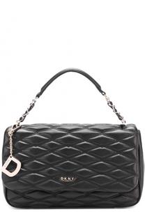 Кожаная стеганая сумка DKNY