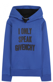 Хлопковое худи с аппликацией Givenchy